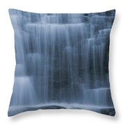 View Of Water Cascading Throw Pillow