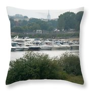 View On River Throw Pillow