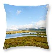 View Over Loch Ba Throw Pillow