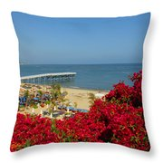 View Over Paradise Throw Pillow
