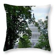View Through Trees Throw Pillow
