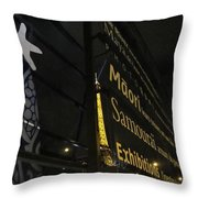 View To The Eiffel Tower Throw Pillow