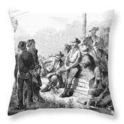Vigilante Court, 1874 Throw Pillow by Granger