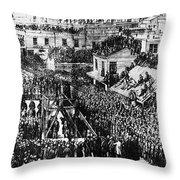 Vigilante Lynching, 1856 Throw Pillow