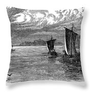 Vikings: North America Throw Pillow