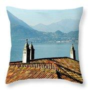 Villa Monastero Rooftop And Lake Como Throw Pillow