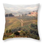 Villa On A Hill In Tuscany Throw Pillow