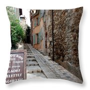 Village Alley Throw Pillow