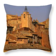Village De Roussillon. Luberon Throw Pillow by Bernard Jaubert