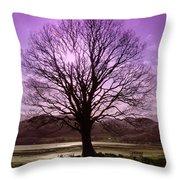 Village Green Tree Throw Pillow