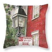 Village Lamplight Throw Pillow