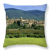 Village Of Lourmarin. Luberon. Vaucluse Throw Pillow
