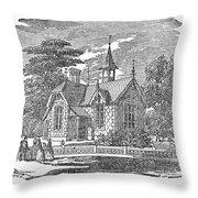 Village Schoolhouse, C1840 Throw Pillow