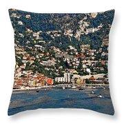 Villefranche Hillside II Throw Pillow