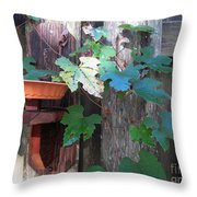 Vine And Feeder Throw Pillow