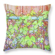 Vines On A Fence Throw Pillow