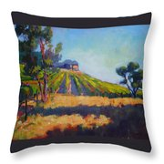 Vineyards At Sarver Throw Pillow