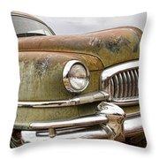Vintage 1951 Nash Ambassador Front End Throw Pillow