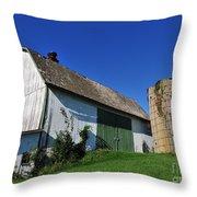 Vintage American Barn And Silo 1 Of 2 Throw Pillow