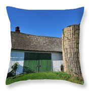 Vintage American Barn And Silo 2 Of 2 Throw Pillow