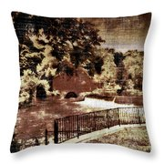 The Red Mill  Bucks County Nj  Throw Pillow