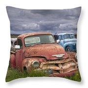 Vintage Auto Junk Yard Throw Pillow