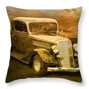 Vintage Automobile No.007 Throw Pillow