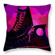 Vintage Basketball Shoes Throw Pillow