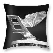 Vintage Bentley 2 Throw Pillow
