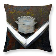 Vintage Caddy Emblem Throw Pillow