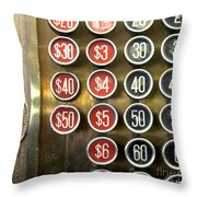 Vintage Cash Register Throw Pillow