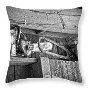 Vintage Chain Saws Throw Pillow