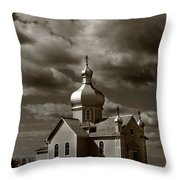 Vintage Church Throw Pillow