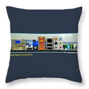 Vintage Circuit Board Connectors Throw Pillow