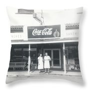 Vintage Coca Cola Store Throw Pillow