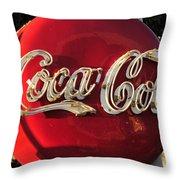 Vintage Coke Throw Pillow