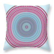 Vintage Color Circle Throw Pillow by Atiketta Sangasaeng