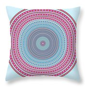 Vintage Color Circle Throw Pillow