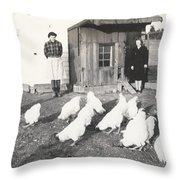 Vintage Coupe Throw Pillow