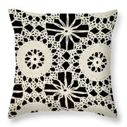 Vintage Crocheted Doily Throw Pillow