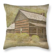 Vintage Davis House Throw Pillow