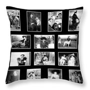 Vintage Dogs Throw Pillow