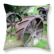 Vintage Farm Tractor Throw Pillow