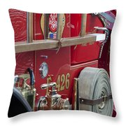 Vintage Fire Truck 2 Throw Pillow
