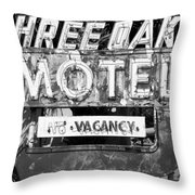 Vintage Florida Motel Throw Pillow