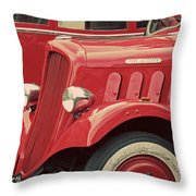 Vintage French Delahaye Fire Truck  Throw Pillow