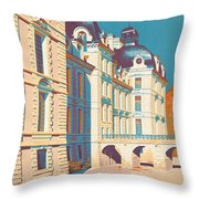 Vintage French Travel Poster Throw Pillow