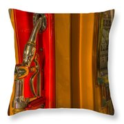 Vintage Gas Pump Nozzle Throw Pillow