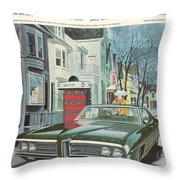 Vintage Gm Pontiac Throw Pillow