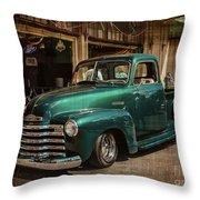 Vintage Green Dream Throw Pillow